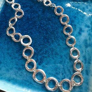 Liz Claiborne silver circle necklace
